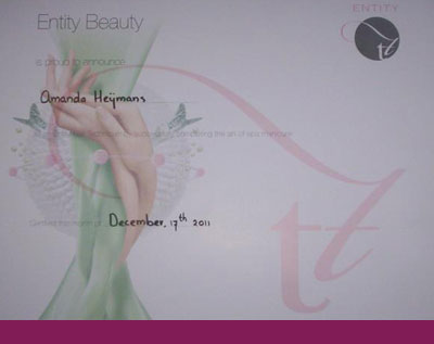 getuigschrift the art of spa manicure